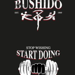 Bushido hoodie print